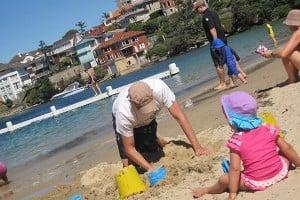 Building sandcastles at Clontarf Reserve