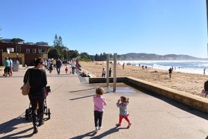 A sunny winter's day at Terrigal Beach