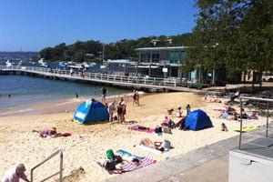 The netted swim area at Balmoral Beach